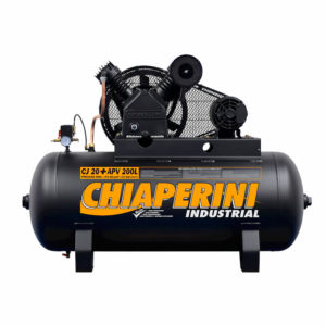 Ferramenta - Compressor de Ar 20 Pés 175 Libras 200 Litros Trifásico Cj20+Apvtri200l Chiaperini