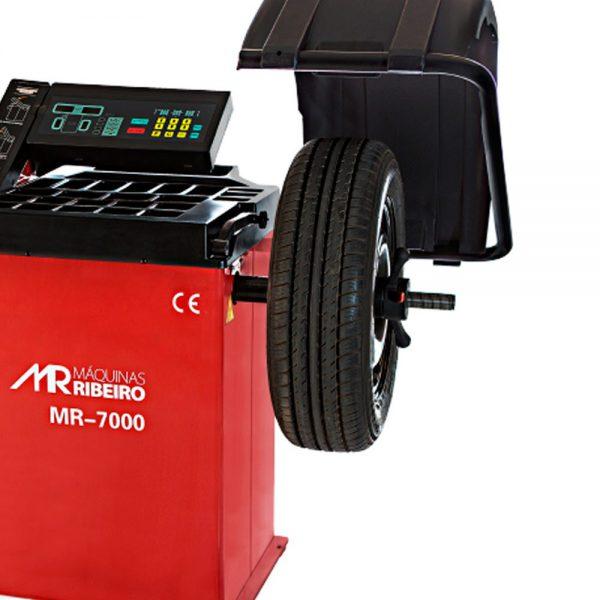 Balanceadora de Rodas Aro 10 A 24″ Motorizada com Freio e Automática com Capô 220v Mr7000 Ribeiro