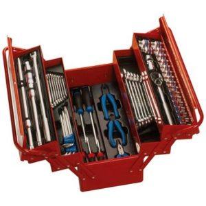 Ferramenta - Caixa de Ferramentas Sanfonada 5 Gavetas com Kit de 62 Peças Vermelha 902062mr King Tony