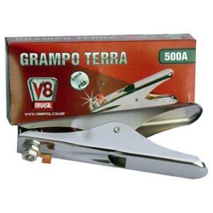 Ferramenta - Grampo Terra 500 A Garra Negativa Grampo500a V8Brasil