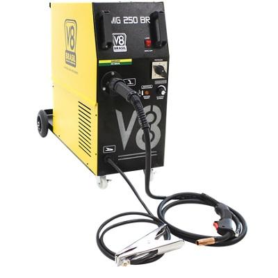 Ferramenta - Maquina de Solda MIG 250 Amperes 220v Monofásica Sem Tocha Mig250brmono V8Brasil