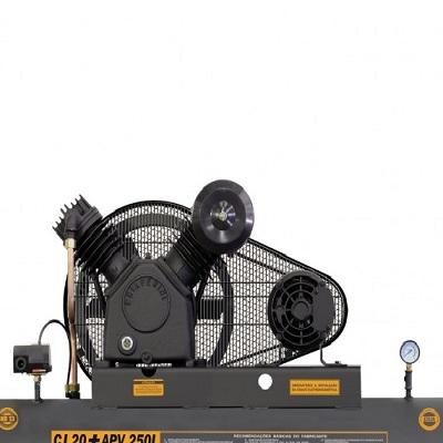 Ferramenta - Compressor de Ar 20 Pés 175 Libras 250 Litros Trifásico Cj20+Apvtri250l Chiaperini