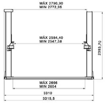 Ferramenta - Elevador Automotivo 4100kg Trifásico Vermelho Gp4100vsd GPpmotors