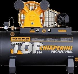 Ferramenta - Compressor de Ar 20 Pés 140 Libras 200 Litros Trifásico Top20mpvtri200l Chiaperini