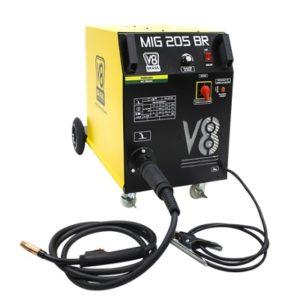 Ferramenta - Maquina de Solda MIG 205 Amperes 220v Monofásica Sem Tocha Mig205br220v V8Brasil