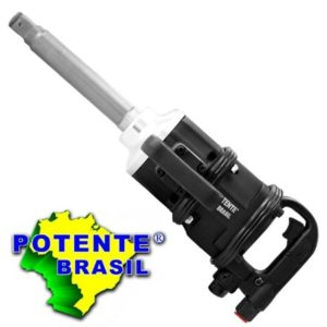 """Ferramenta - Pistola Pneumática  Encaixe de 1"""" Aperto de 220 Kgf Ponteira Longa Pn1001220 Potente"""