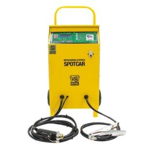 Ferramenta - Repuxadeira de Lataria Spotter 3000 Amperes 220v Digital com Acessórios Spotcar3000220v V8Brasil
