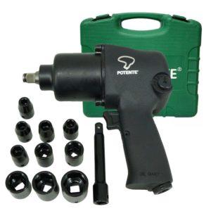 Ferramenta - Pistola Pneumatica Encaixe De 1/2 Aperto De 79 Kgf Com Kit 13 Peças Pn120278 Potente
