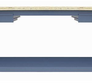 Ferramenta - Bancada Aberta Tampo De 40mm 2 Gavetas Desmontavel 200x60x85cm Nb11 Nocram