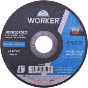 Ferramenta - Disco De Corte Inox 4.1/2 Polegadas 114 x 1 x 22 mm 2mm 486485 Worker