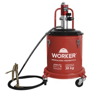 Ferramenta - Propulsora Pneumática Para Graxa Capac 30k Com Carrinho 927775 Worker