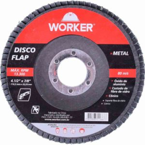 Ferramenta - Disco Flap Reto 115x22x2mm G40 847046 Worker