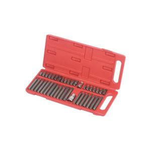 Ferramenta - Jogo de Bits Allen Torx e Multidentado 40 Peças na Maleta Plastic Box 904500 Vip