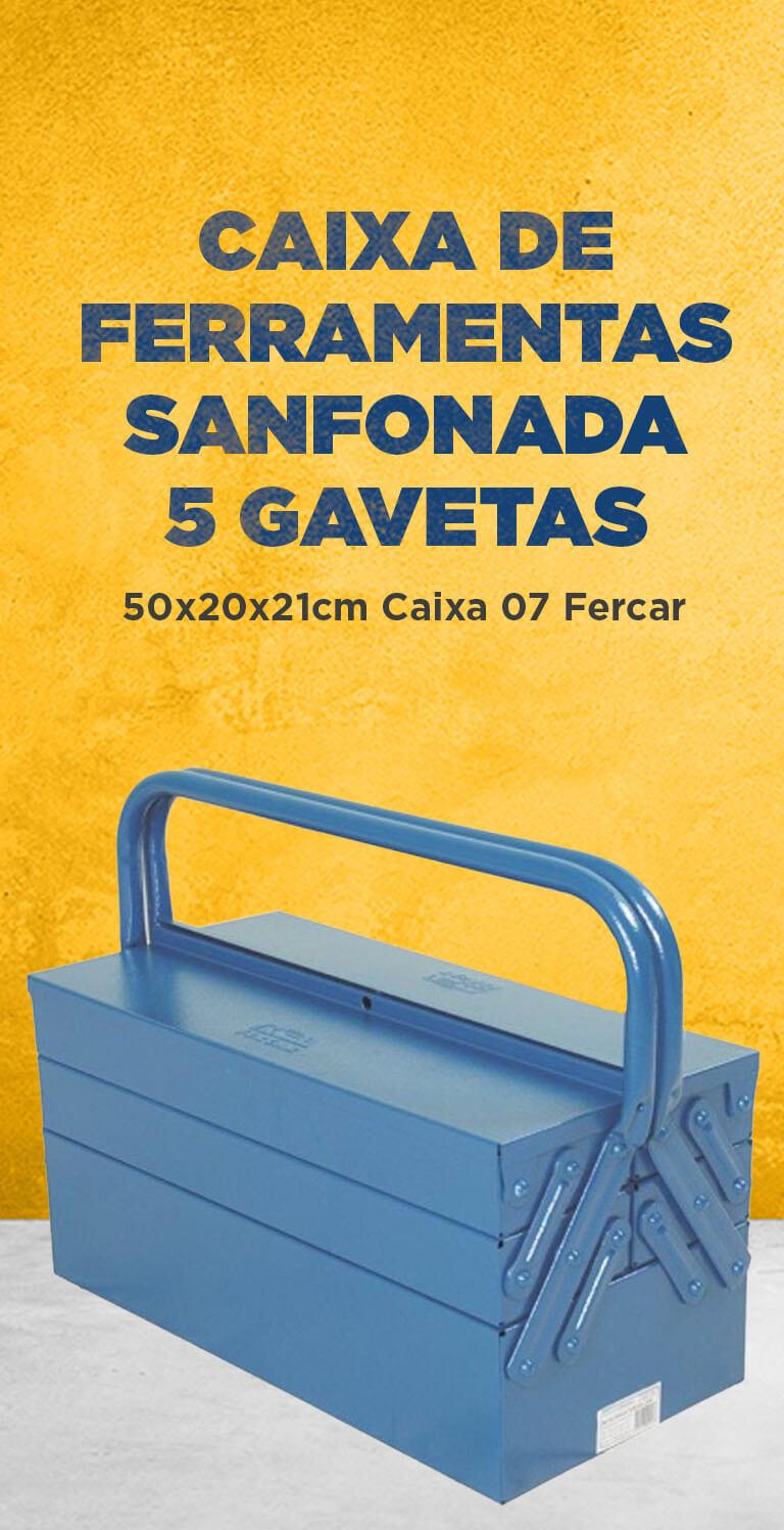 Caixa de Ferramentas Sanfonada 5 Gavetas