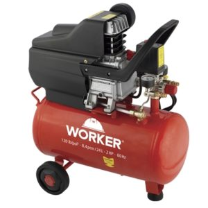 Ferramenta - Motocompressor De Ar 8 Pes 115 Psi 2hp 24 Litros 110v 245437 Worker