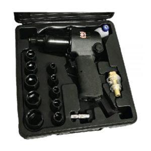 Ferramenta - Pistola Pneumática Encaixe De 1/2 Aperto De 65 Kgf Com Kit De Soquetes Sgt0531k Sigma