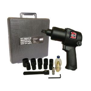 Ferramenta - Pistola Pneumática Encaixe De 1/2 Aperto De 69 Kgf Com Kit 16 Pecas Sgt0532k Sigma